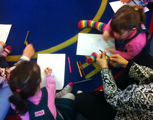 Children drawing our audio books image