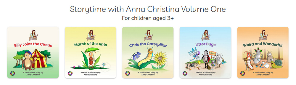 Storytime with Anna Christina Volume One - audiobook series image